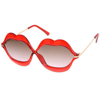Oversize Novelty Transparent Lip Sunglasses - Shop Jeen - powered by Hingeto