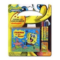 Nickelodeon Spongebob Personalized 5pc Stationary Set - Spongebob School Supplies - Spongebob Personalized Notebook Set