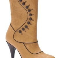Steampunk or Ruth Victorian Boots (Tan) Adult Size 10