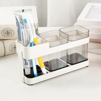 Creative Bathroom Supplies Wash Set Toothpaste Tumbler Toothbrush Holder Plastic Bathroom Household Accessories