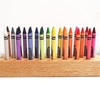 Handcrafted Solid Oak Crayons Holder  Make to by treasureforest6