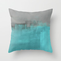 Misty Throw Pillow by T30 Gallery