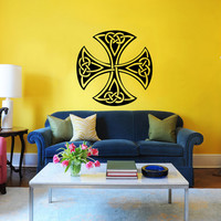 Celtic Cross Wall Decal Celtic Cross Decals Wall Vinyl Sticker Interior Home Decor Vinyl Art Wall Decor Bedroom SV5849