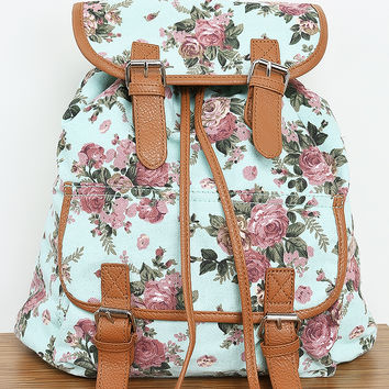 Flower Pattern Backpack