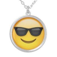 Sunglasses Emoji Necklace