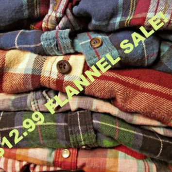 AFTER Holiday Sale -Unisex Mystery Vintage Flannel Shirts - All Colors & Sizes