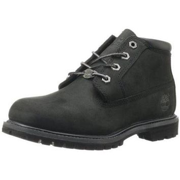 Timberland Women's Nellie Double WP Ankle Boot,Black
