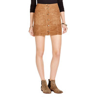 Free People Womens Corduroy Button-up Mini Skirt