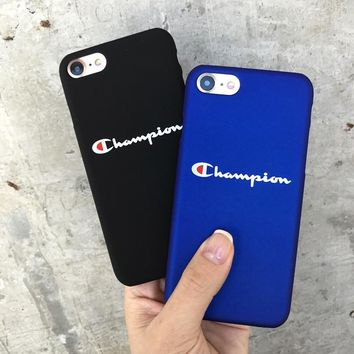 Phone Cases Fashion Hard Plastic Cover Case for iPhone 6 S 6S Plus 7 Plus 8 Plus Cqoue Champion Black Blue silicone