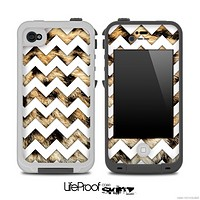 Real Leopard Animal Print and White Chevron Pattern for the iPhone 5 or 4/4s LifeProof Case