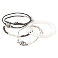 With Love From CA Evil Eye Bracelet Set - Womens Jewelry - Silver - One