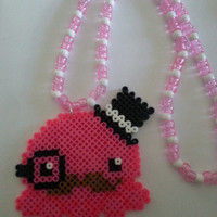 Mustache Octopus Kandi Necklace//Mustache Kandi Necklace//Octopus