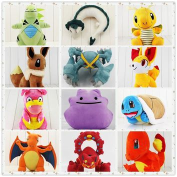20-50cm Zeraora eevee Charizard Volcanion Metagross Tyranitar Ditto Charmander Dragonite Haku Hayao hippo Slowking plush cartoon