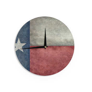 "Bruce Stanfield ""Texas State Flag"" Vintage Digital Wall Clock"