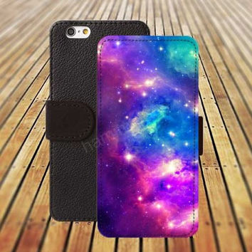 iphone 5 5s case nebula fox colorful iphone 4/4s iPhone 6 6 Plus iphone 5C Wallet Case,iPhone 5 Case,Cover,Cases colorful pattern L462