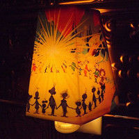 The Grinch Night Light Lamp Shade ~ Nightlight ~ Lampshade The Grinch who Stole Christmas