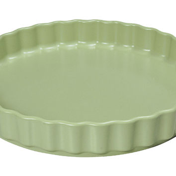 Ruffled Pie/Quiche Pan, Green, Bakers & Casseroles