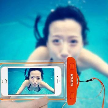 Transparent Surfing Swimming waterproof bag cover case for Iphone