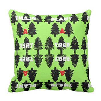 Plant A Tree Funky Pattern Throw Pillow
