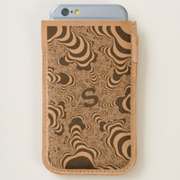 Cool stripped fractal. Monogram. iPhone 6/6S Case
