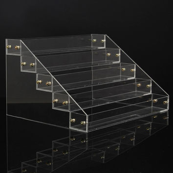 5 Tiers 40 Bottles Clear Acrylic Nail Polish Detachable Cosmetic Display Stand Rack Organizer