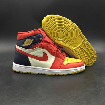 Air Jordan 1 Navy/red/yellow 555088-600 | Best Online Sale