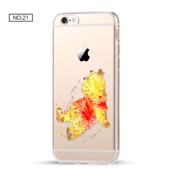 Winnie The Pooh! Clear Soft Disney Phone Case For iPhone 7 7Plus 6 6s Plus 5 5s SE C
