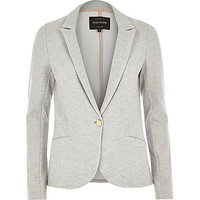River Island Womens Light grey jersey blazer