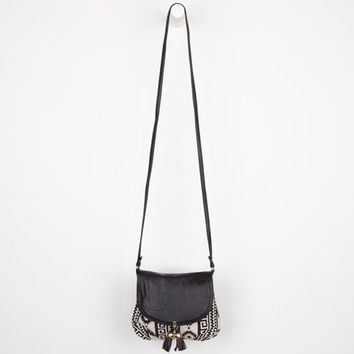 Southwest Print Crossbody Bag White/Black One Size For Women 24214416801