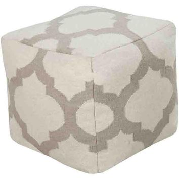 Frontier Pouf ~ Light Gray
