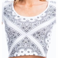 I'm With The Bandana Cropped Top - GoJane.com
