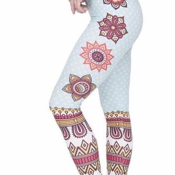 Shape Printed High Waist Women Leggings