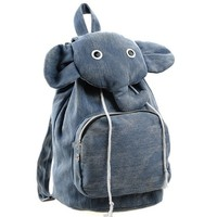 Cute Canvas Elephant Backpack