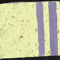 "Handmade Paper, Deckle Edge, 5 Sheets 5""x 7"", One of a Kind,Assorted with Flowers, Sparkles, Leaves, Recycle, Deckle, Green, Yellow, Purple"