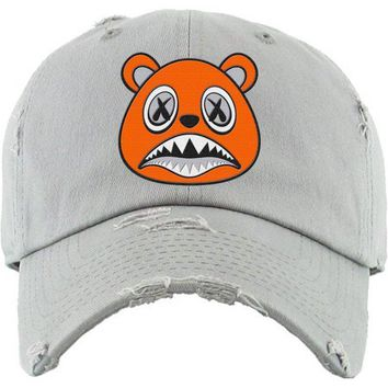 Orange Baws Light Grey Dad Hat