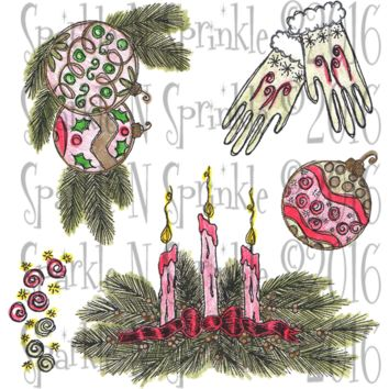 Candle Centerpiece Rubber Stamp Set [00-765P6]