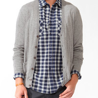 Cashmere-Blend Elbow Patch Cardigan