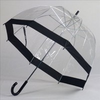 Elite Rain Umbrella Classic Bubble Umbrella - Black Trim