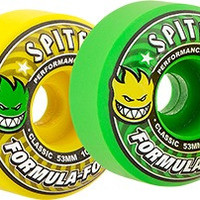 Spitfire F4 101a Classic 53mm Cool Aid Yellow/Green Mash Skate Wheels