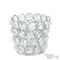 Silver Shimmer Fluted Candle Cup