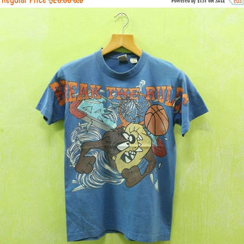 15% SALES Vintage 90s Taz Tazmania Break The Rules Basketball Tasmanian Devil Looney Tunes Michael Jordan T-shirt