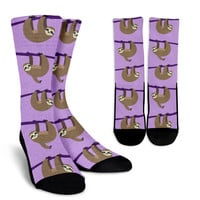 Sloth Pattern Socks