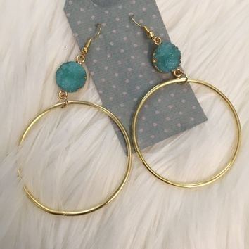 Indian Summer Hoop Earrings