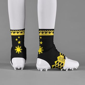 Philippines Black Yellow Spats / Cleat Covers
