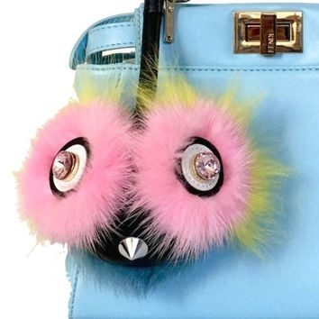 Tweet-Bird Fur Bag Bug Charm