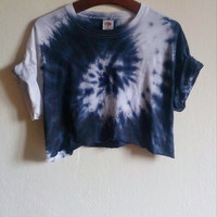 The Black Snake Tie-Dye Crop Shirt/Top, hipster, grunge blogger
