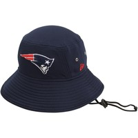 Men's New England Patriots New Era Navy Blue Team Redux Bucket Hat