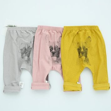 6M-3T Baby Clothes Pants Baby Girl Clothes Cotton Ink Painting Dog PP Pants Baby Girl Pants Spring Autumn For Baby Boy Pants V20