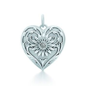 Tiffany & Co. -  Ziegfeld Collection daisy locket in sterling silver, medium.