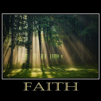 Faith Inspirational Motivational Poster Art Print
